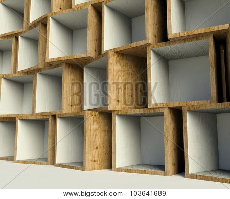 Open Wooden Boxes On Stack, Background