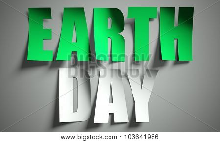 Earth Day Cut From Paper On Background
