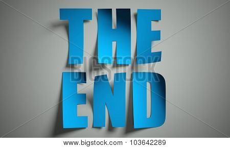 The End Cut From Paper On Background