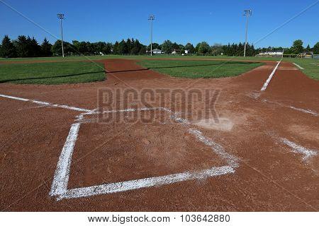 Low Angle Baseball Field