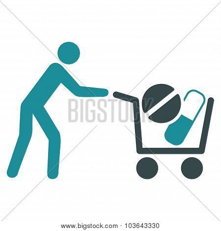 Drugs Shopping Icon