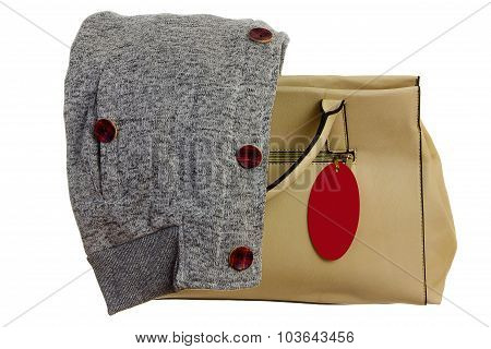 Handbag With Ticket
