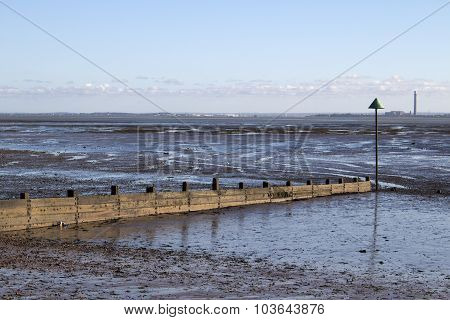 Breakwater at Southend-on-sea, Essex, England