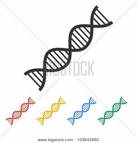 Vector Dna Icon