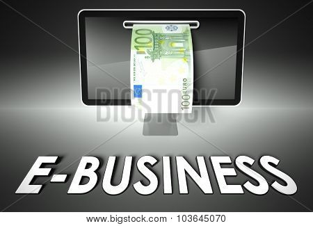 Screen And Euro Bill, Business
