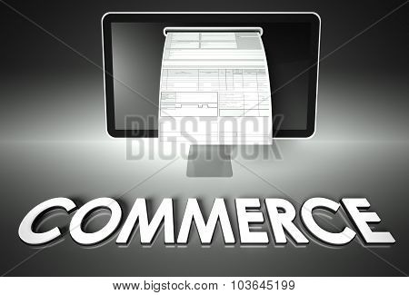 Screen And Invoice With Commerce, Tax