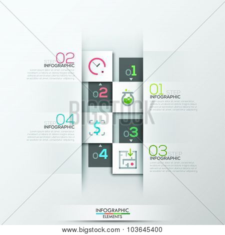 Modern infographic option banner