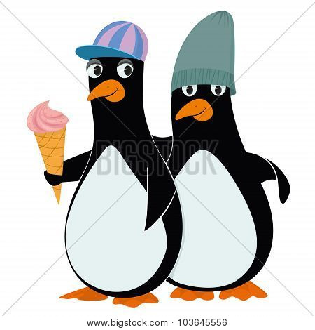 Penguins And Ice Cream