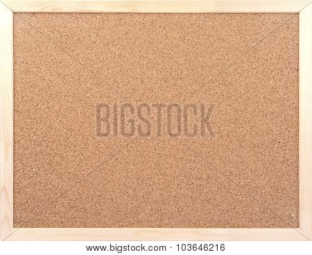 Blank Cork board with wooden frame