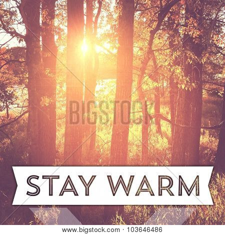 Inspirational Typographic Quote - Stay Warm