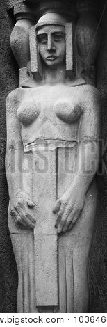 The Statue Of The Goddess Hera In Greek Mythology, And Juno In Roman Mythology