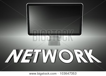 Computer Blank Screen With Word Network