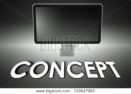 Computer Blank Screen With Word Concept