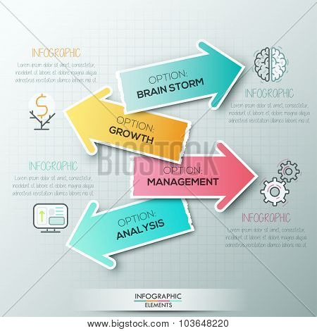 Modern infographics options banner