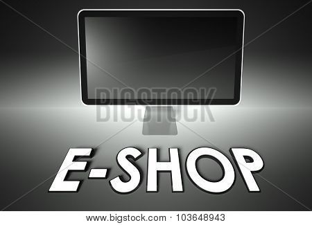 Computer Blank Screen With Word E-shop