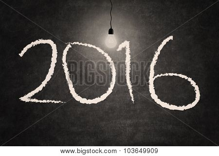 Bright Light Bulb Illuminate The Numbers 2016