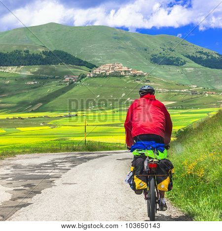 cycling in Sibilini mountains(Italy), outdoor sport activiies
