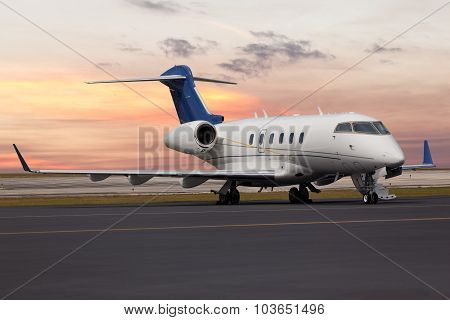Private jet at the airport