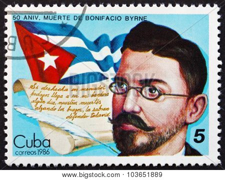 Postage Stamp Cuba 1986 Bonifacio Byrne, Cuban Poet