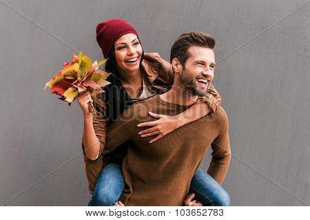 Enjoying Autumn Time Together.
