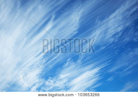 Clouds On The Blue Sky.