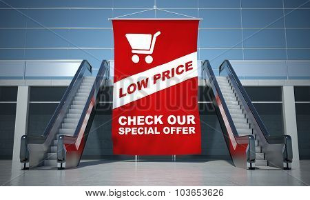 Low Prices Offer Advertising Flag And Escalator