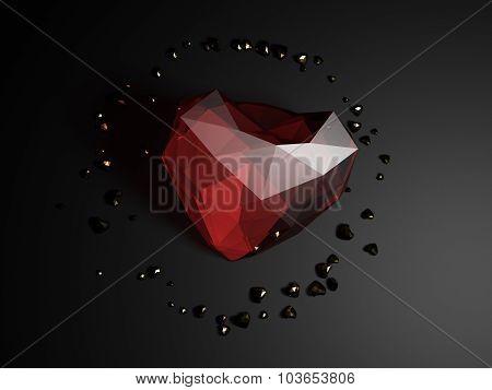 illustration of a heart 3D rendering