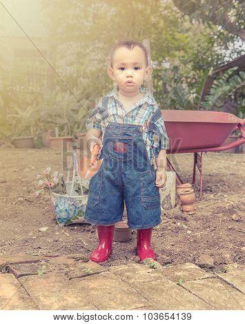 Baby gardener.