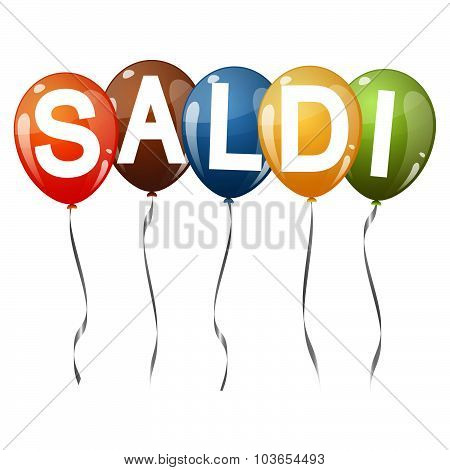 Colored Balloons With Text Saldi