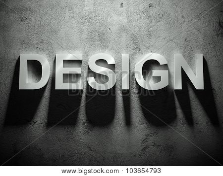 Design Text With Shadow, Word