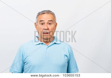 Surprised senior man