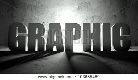 Graphic Word With Shadow, Background