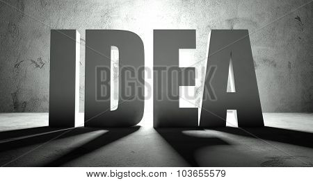 Idea Word With Shadow, Background