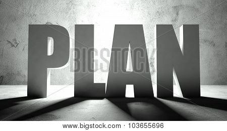 Plan Word With Shadow, Background