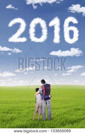Man And His Son Looking At Numbers 2016