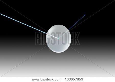Glass Lens Single Uv Black With Arrow