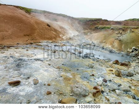 Hot Spring In Iceland