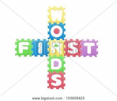 Colored Letters, Children's First Words