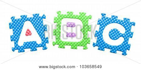 Colored Letters Abc Alphabet For Children