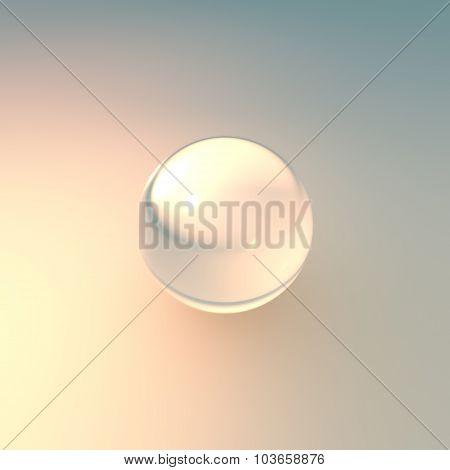 Glass White Ball