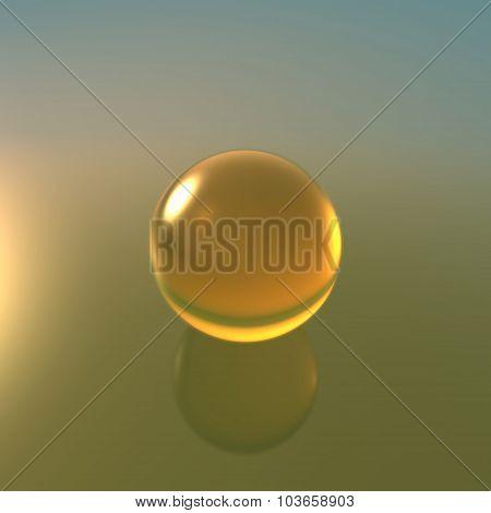 Glass Yellow Ball