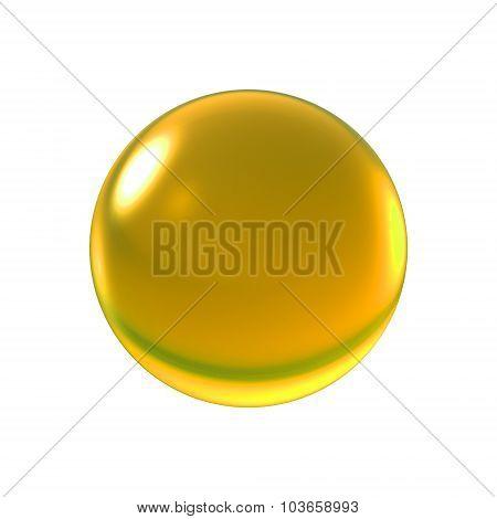 Crystal Yellow Ball