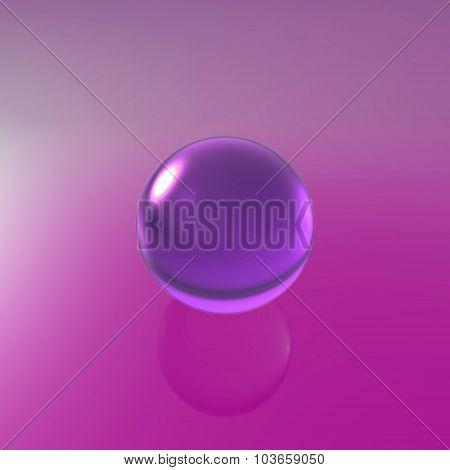 Glass Violet Ball