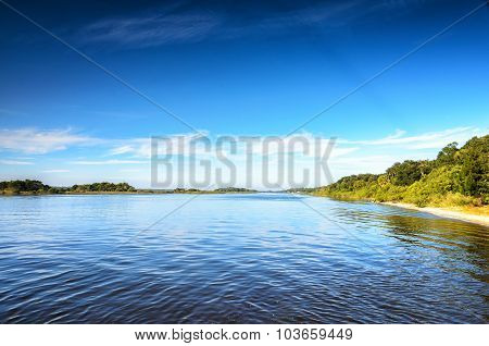 Peaceful Inlet Waterway in Florida