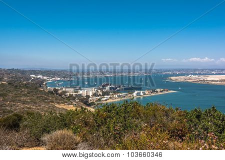 View of San Diego from Point Loma, California
