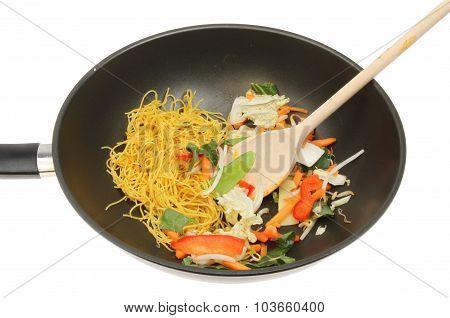 Stir Fry Ingredients In A Wok