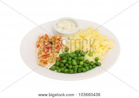 Fish Peas And Mashed Potatoes