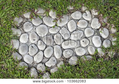 Close Up Of Stone Pathway