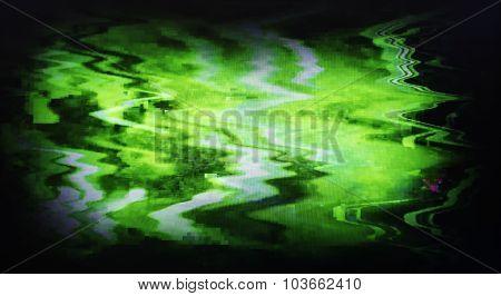 Green Interlaced Tv Static Noise