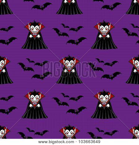 Vampire Seamless Pattern